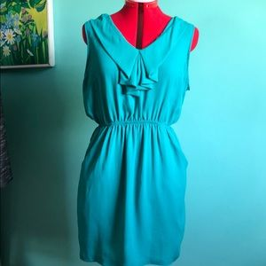 Silence and noise green dress size large EUC
